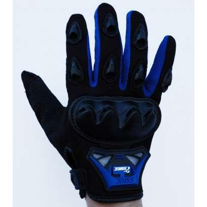 Moto rukavice SSPEC 7201 crno - plave