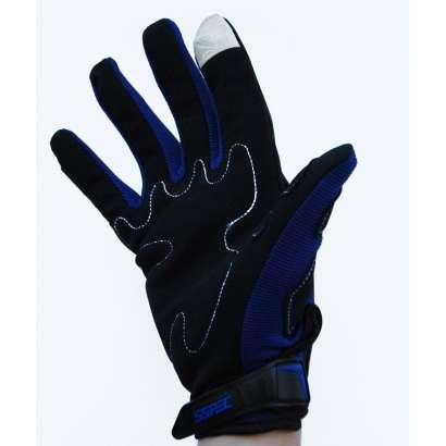 Moto rukavice SSPEC 7203 crne - plave