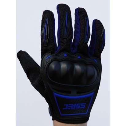 Moto rukavice SSPEC 7204 crno - plave