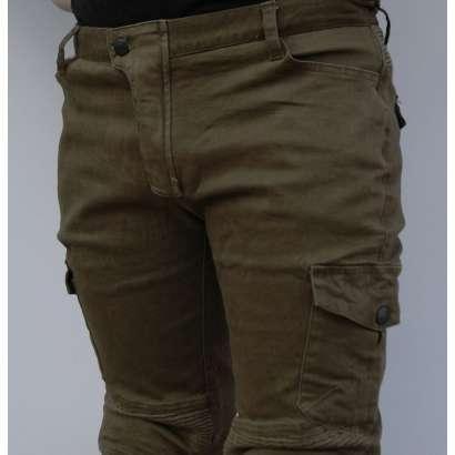 Moto pantalone sa protektorima braon texas