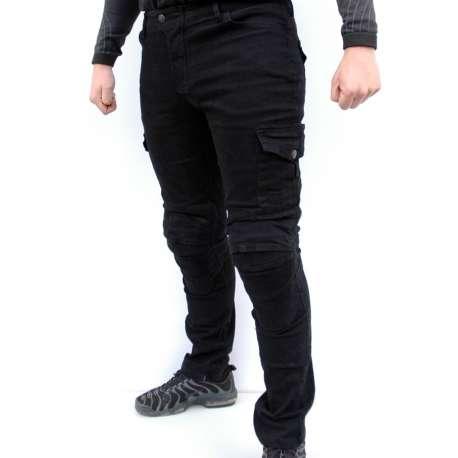 Moto pantalone sa protektorima crni texas