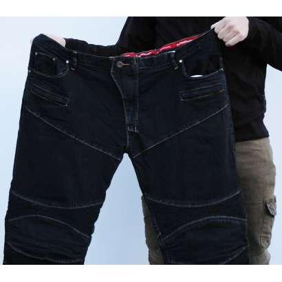 Moto pantalone EXTRA veliki brojevi KOMINE 718 crne