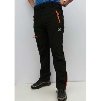 Muske windstoper pantalone Mammut crne-orange zip