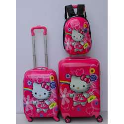 Deciji Koferi set 3u1  mod.22 Hello Kitty sa torbicom