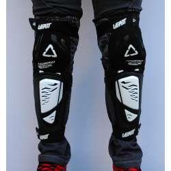 Štitnici za kolena Leatt model 3DF crno beli