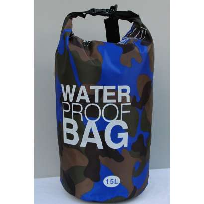 Dry bag Water proof 15 L military t.plavi