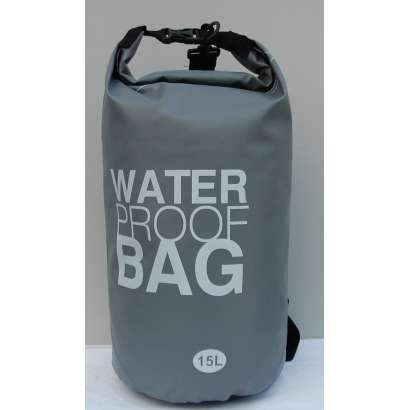 Dry bag Water proof 15 L sivi