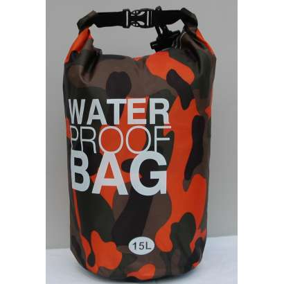 Dry bag Water proof 15 L military orange