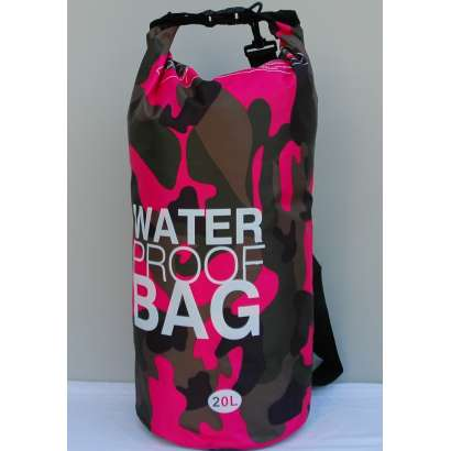 Dry bag Water proof 20 L military roze