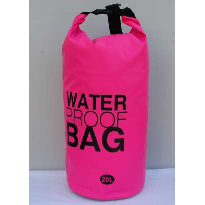 Dry bag Water proof 20 L roze
