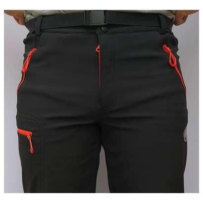 Muske windstoper pantalone Mammut crno orange1712