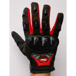 Moto rukavice SSPEC 7201 crne - crvene