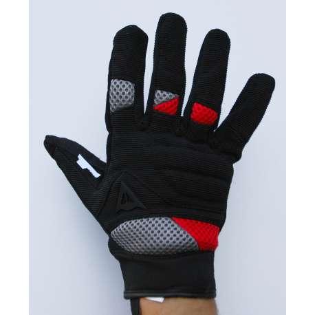 Moto rukavice Dainese platno crno - crvena