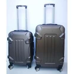 Set 2u1 ABS mali i srednji kofer 010 braon
