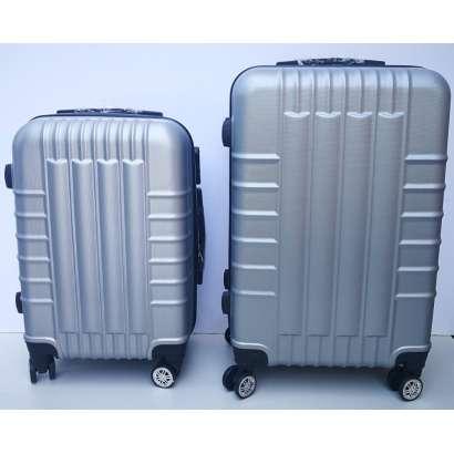 Set 2u1 ABS mali i srednji kofer 019 srebrni