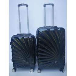 Set 2u1 PVC mali i srednji kofer 020 crni