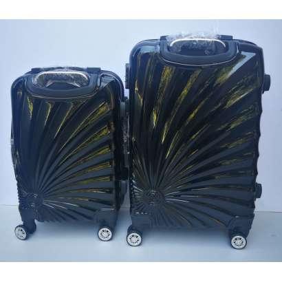 Set 2u1 PVC mali i srednji kofer 020 crnii