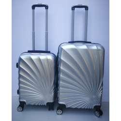 Set 2u1 PVC mali i srednji kofer 020 srebrni