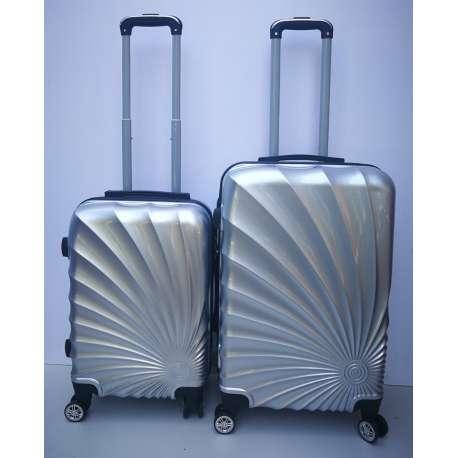 Set 2u1 PVC mali i srednji kofer 020 srebrniii