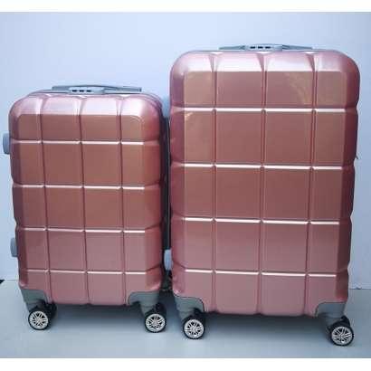 Set 2u1 PVC mali i srednji kofer 021 sampanj