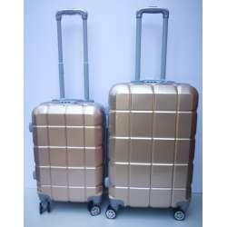 Set 2u1 PVC mali i srednji kofer 021 zlatni