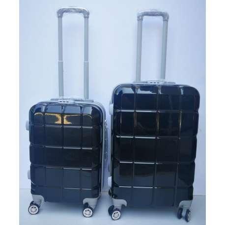 Set 2u1 PVC mali i srednji kofer 021 crni