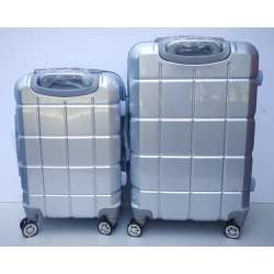 Set 2u1 PVC mali i srednji kofer 021 srebrni