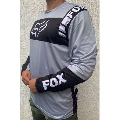 Moto kros dres mod.004 FOX sivo - crni