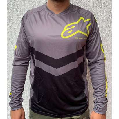 Moto kros dres mod.008 Alpinestars sivo - zuti