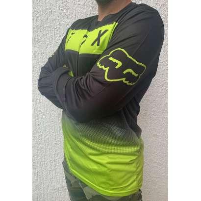 Moto kros dres mod.009 FOX kockice crno zeleni
