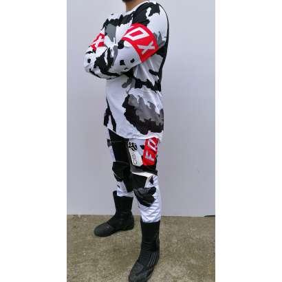 Moto kros odelo Fox mod.3 crno-beli military
